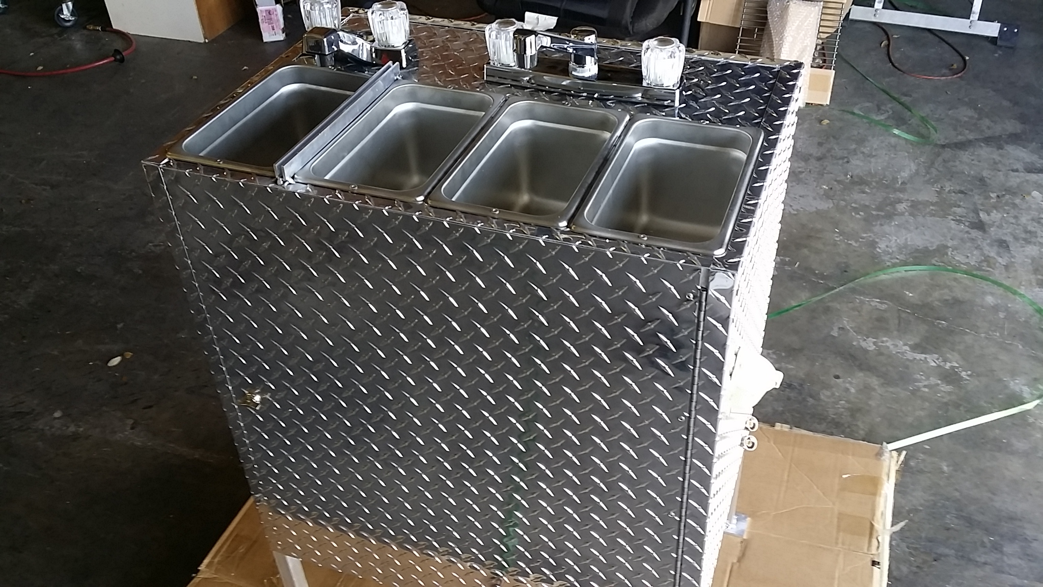 Portable 4 Compartment Sink.Medium Portable 4 Compartment Sink 12v Lp Gas Tankless Water Heater