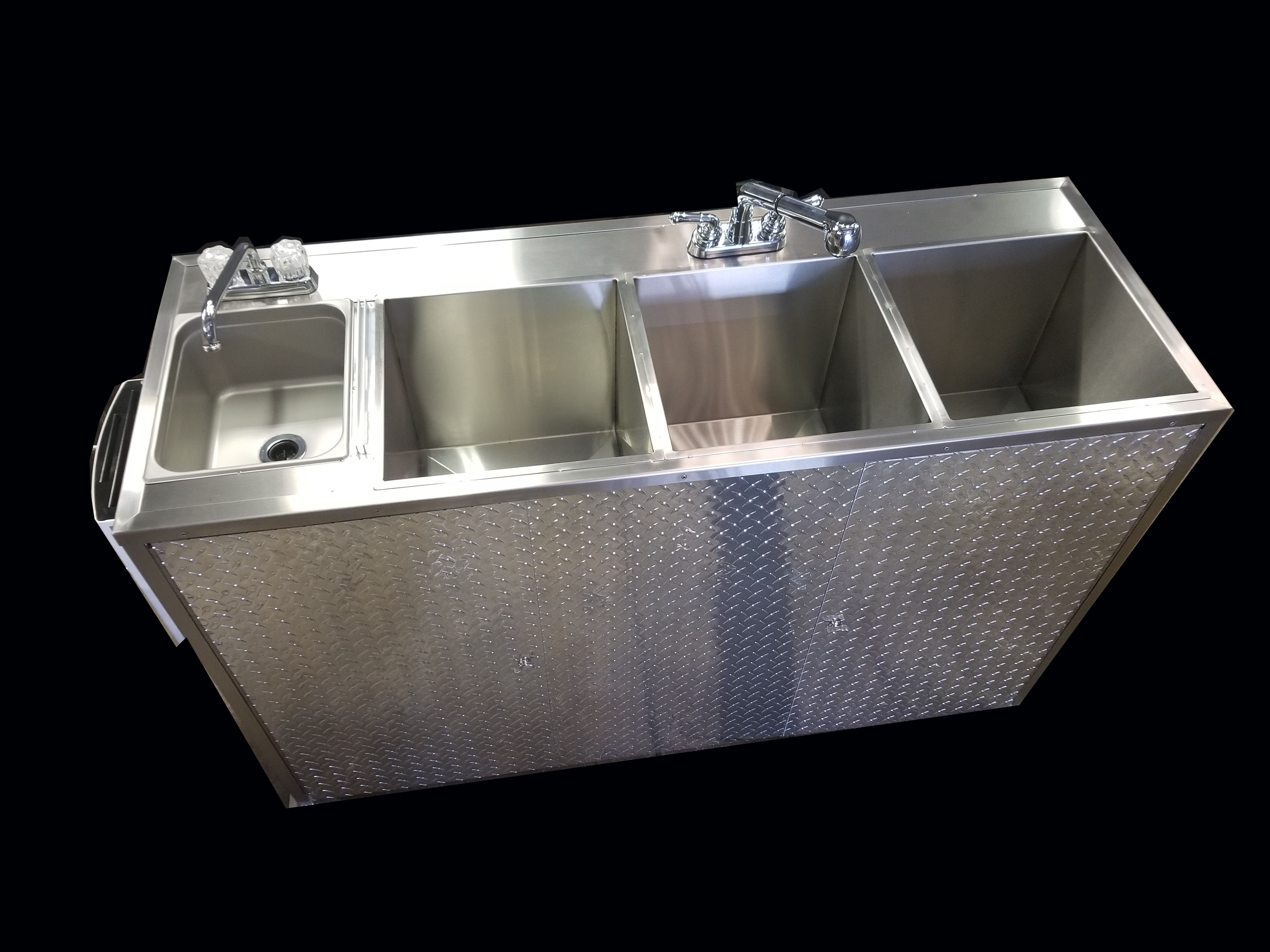 Jumbo Portable 4 Compartment Sink 110v Electric