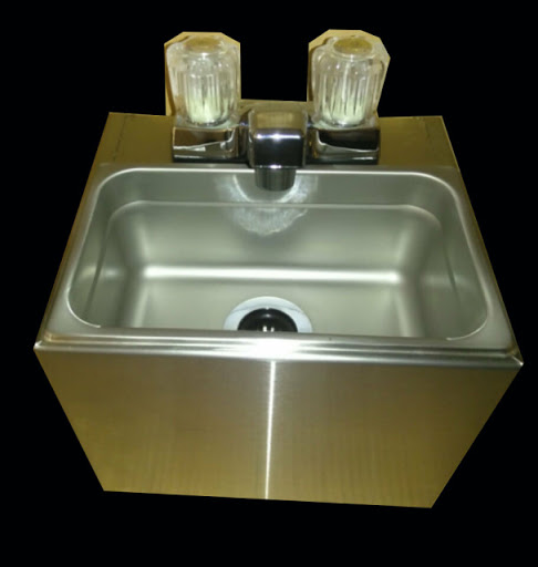 Small Hand Wash Sink Cart Size Stainless Steel